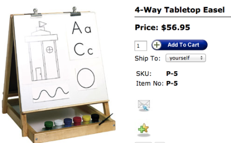Four Way Table Top Easel by TAG Toys