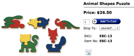 TAG Toys Animal Shapes Puzzle