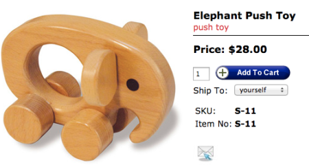 TAG Toys Elephant Push Toy