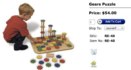 TAG Toys Gears Puzzle