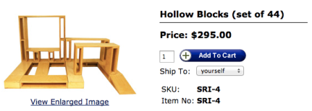 TAG Toys Hollow Blocks Set of 44