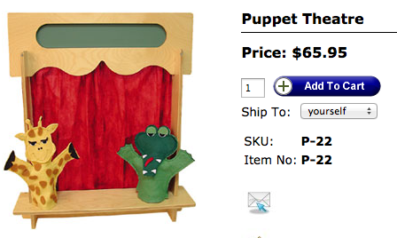 TAG Toys Puppet Theatre