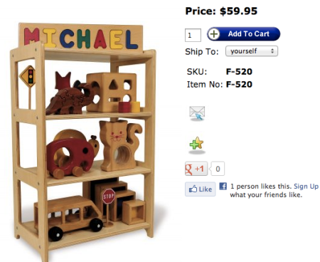 TAG Toys Toy Shelf