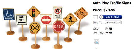 TAG Toys Traffic Sign Toys